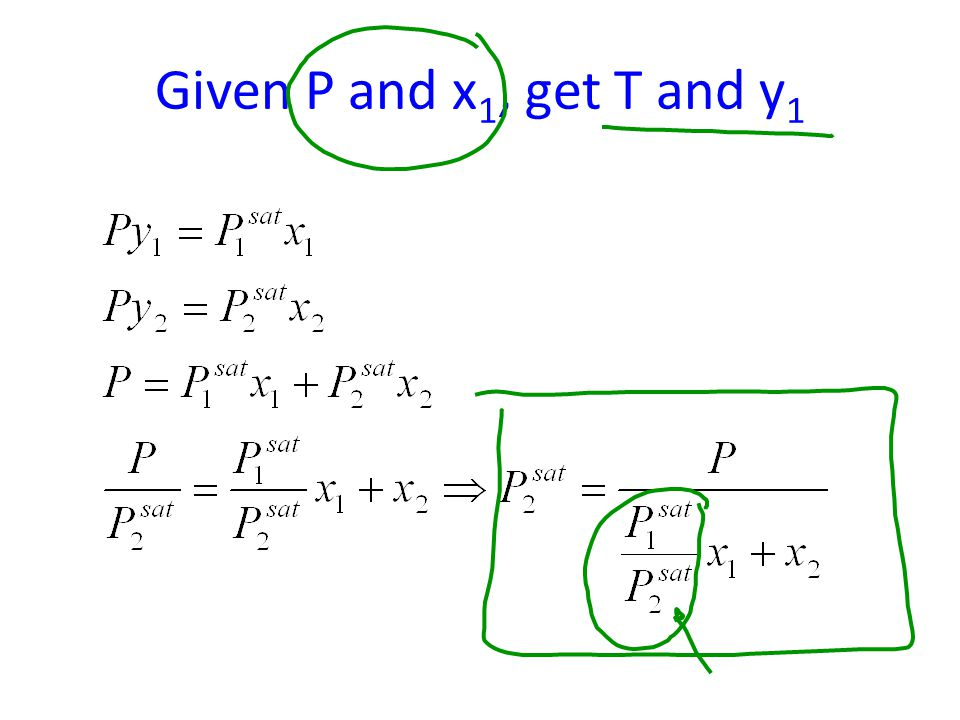 Given P and x 1, get T and y 1