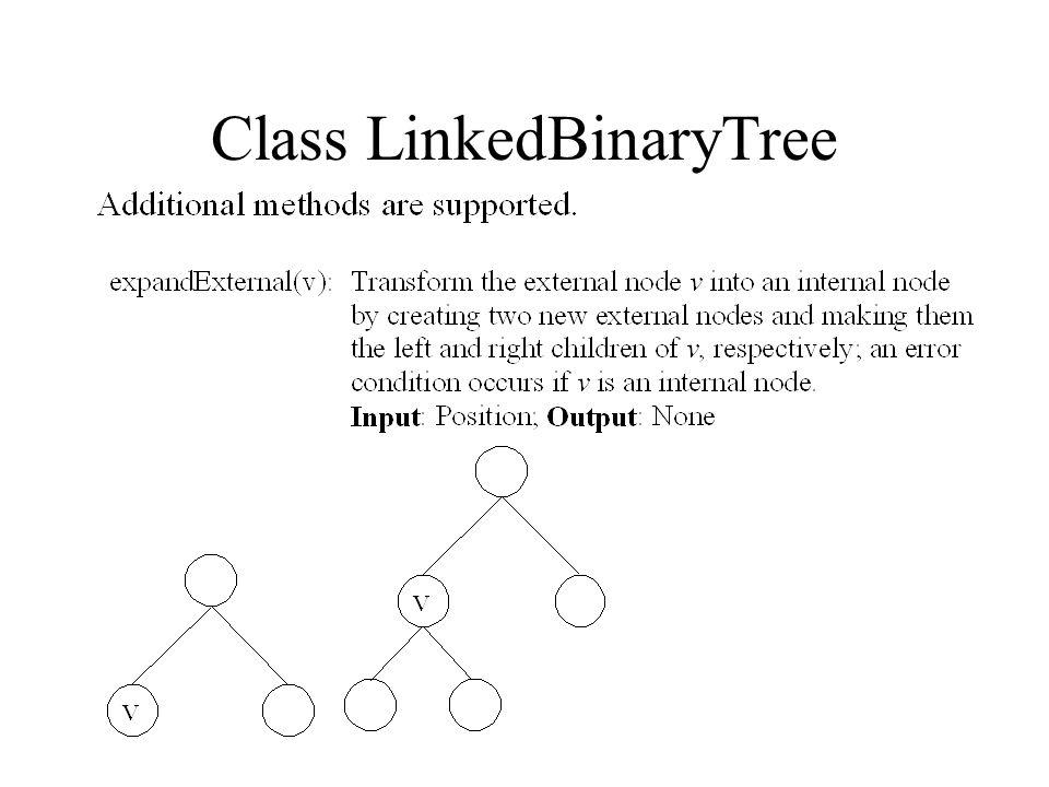 Class LinkedBinaryTree