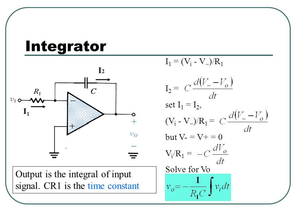 To analyze an op-amp circuit Write node equations at + and - terminals (I + = I  = 0) Set V + = V  Solve for V out