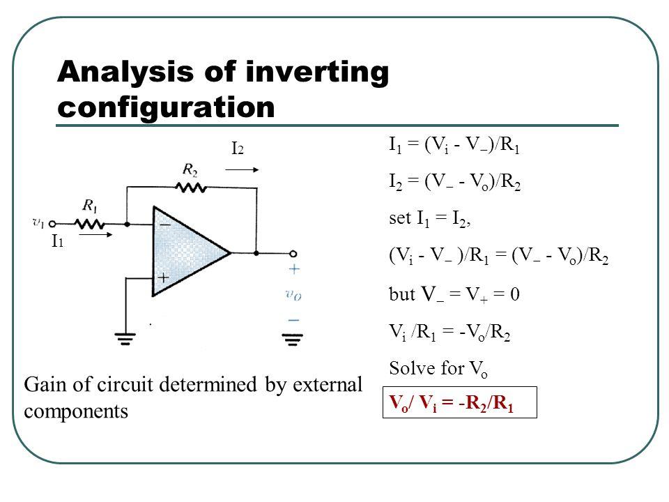 Inverting configuration Very popular circuit