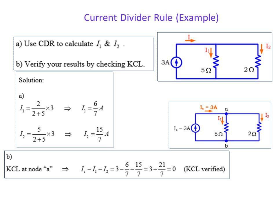 Current Divider Rule (CDR)