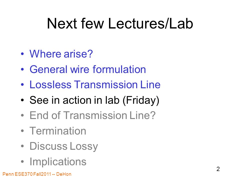 Next few Lectures/Lab Where arise.