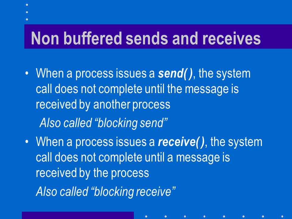 Guarded Commands (I) Command preceded by a guard : v > 0; client?P() -> v := v -1 Previous line reads – When v is positive, wait for P() message from process client – When message arrives, decrement v