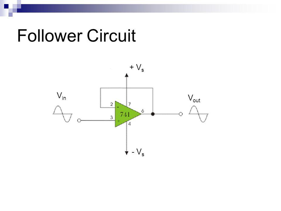 Follower Circuit V in V out + V s - V s