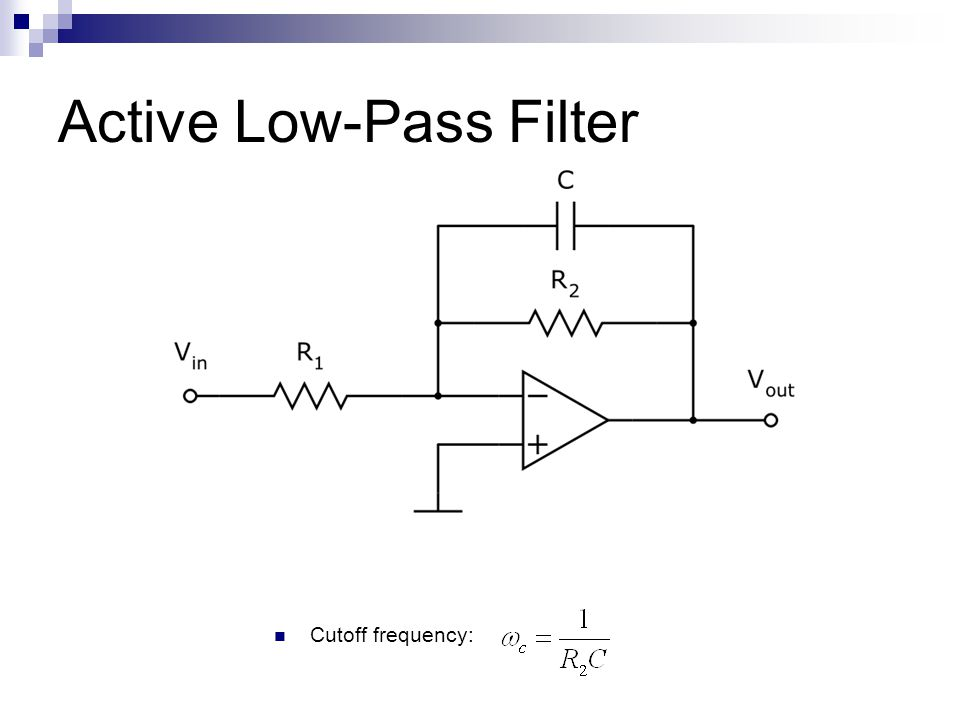 Active Low-Pass Filter Cutoff frequency: