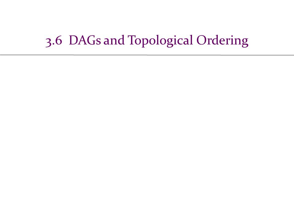 3.6 DAGs and Topological Ordering