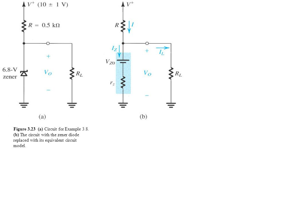 Figure 3.23 (a) Circuit for Example 3.8.