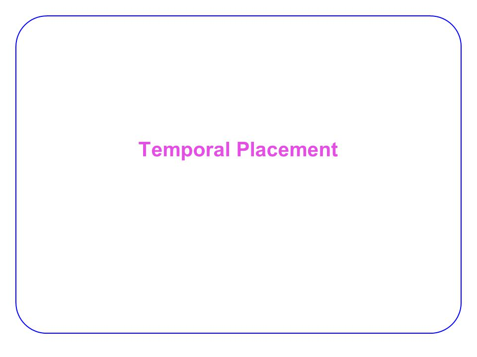 Temporal Placement