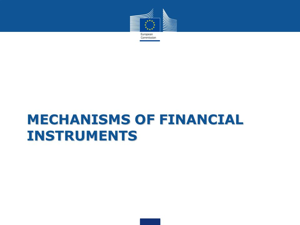 MECHANISMS OF FINANCIAL INSTRUMENTS