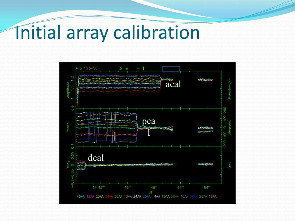 Initial array calibration ddcal pca l acal