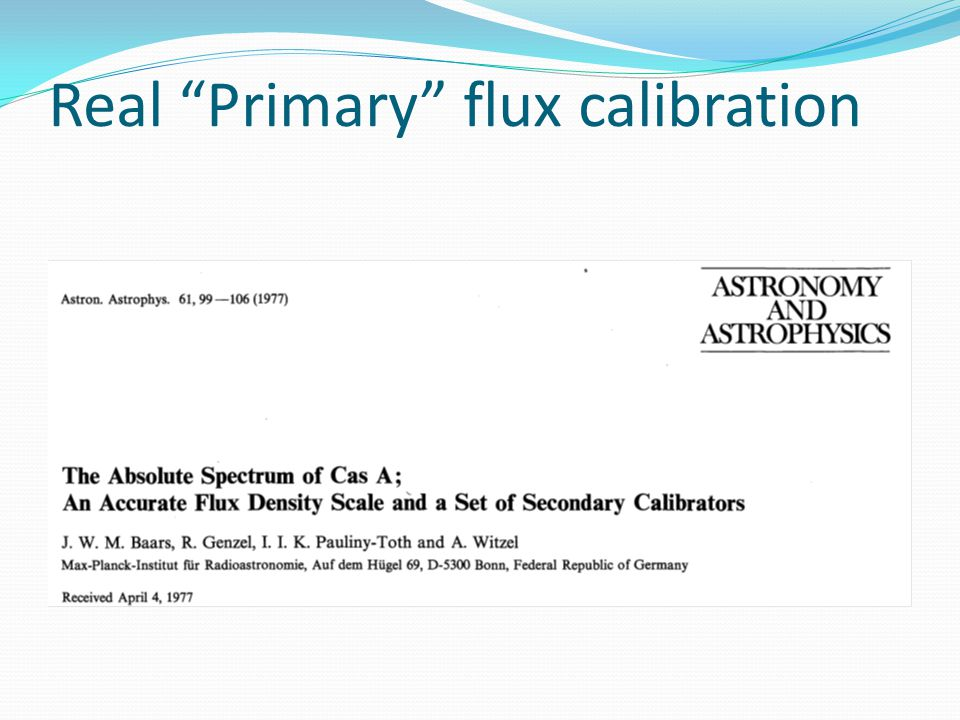 """Real """"Primary"""" flux calibration"""
