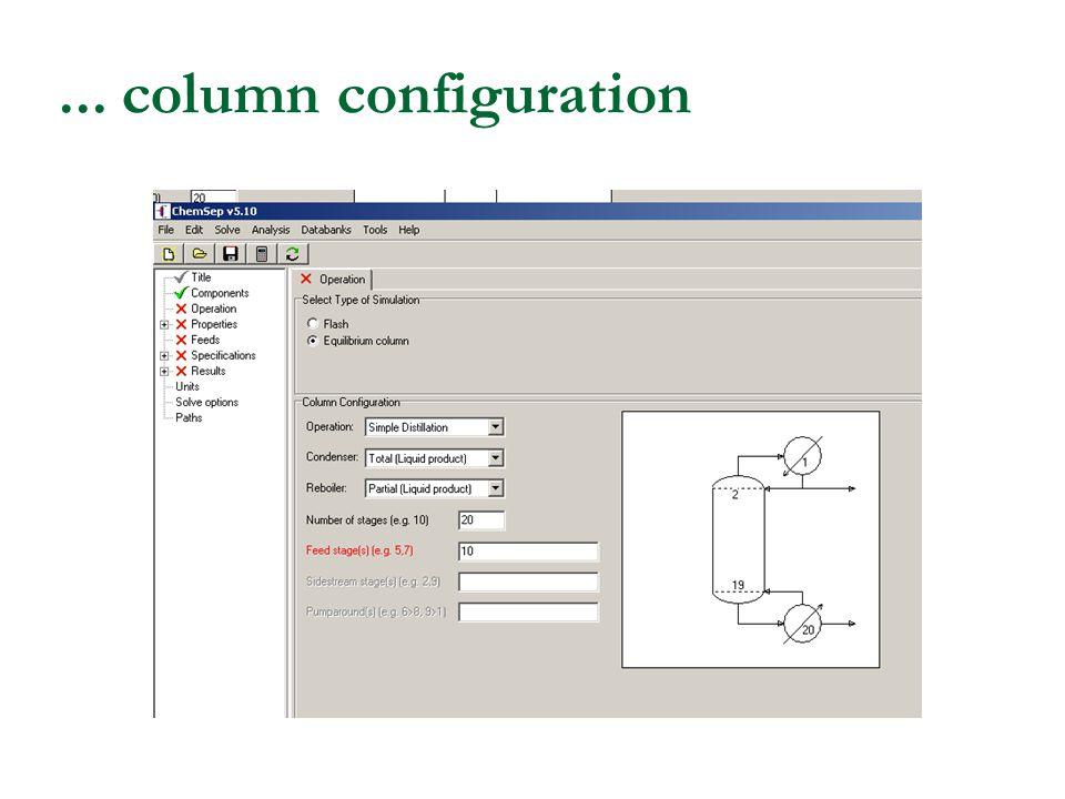... column configuration