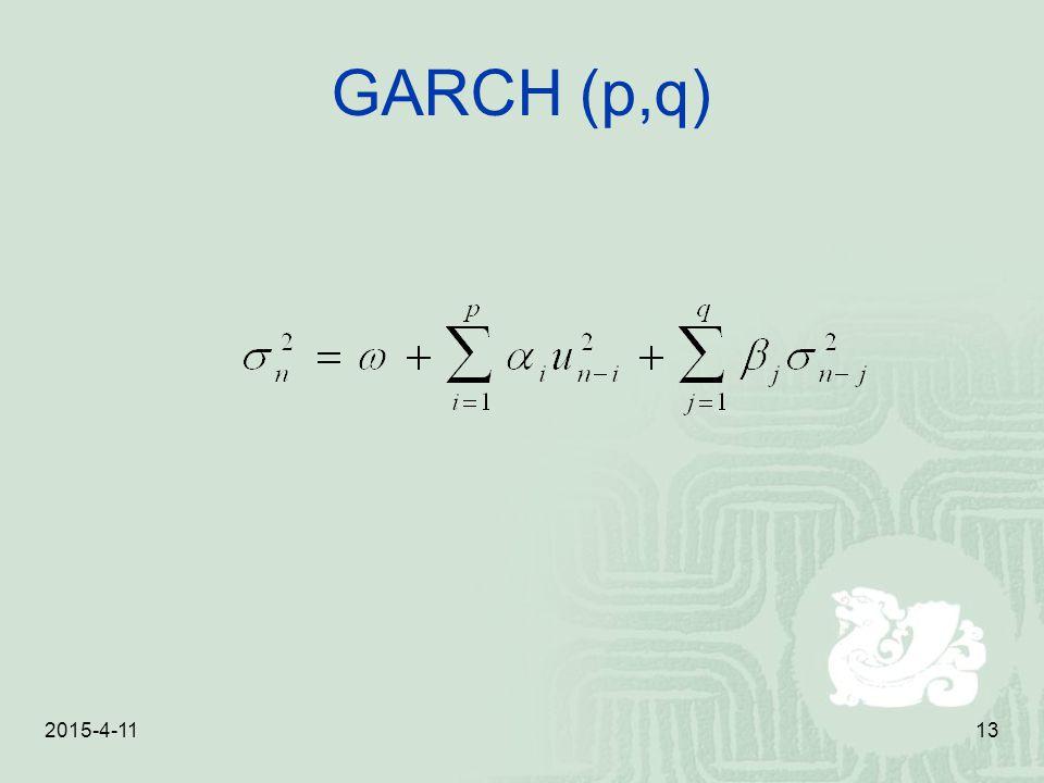 2015-4-1113 GARCH (p,q)