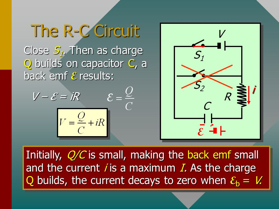 Example 5: The circuit below has a 40-mH inductor connected to a 5-  resistor and a 16-V battery. What is the time constant and what is the current a