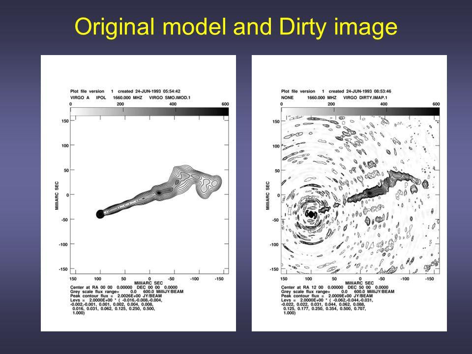 Original model and Dirty image