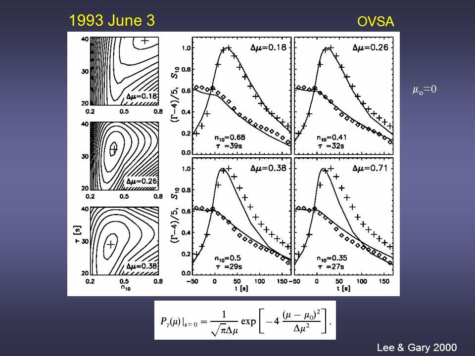 1993 June 3 OVSA Lee & Gary 2000  o =0