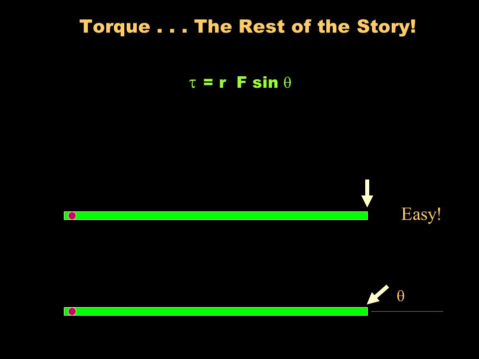 Torque Which one is easier to turn?
