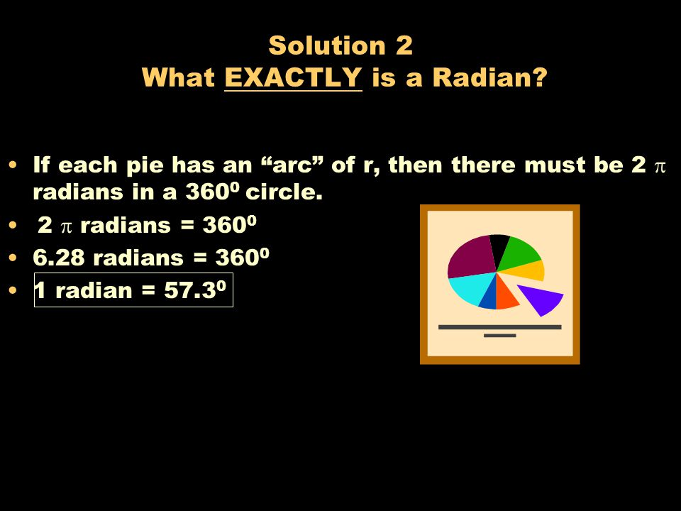 Problem 2 What EXACTLY is a Radian? A. 55 0 B. 57 0 C. 59 0 D. 61 0