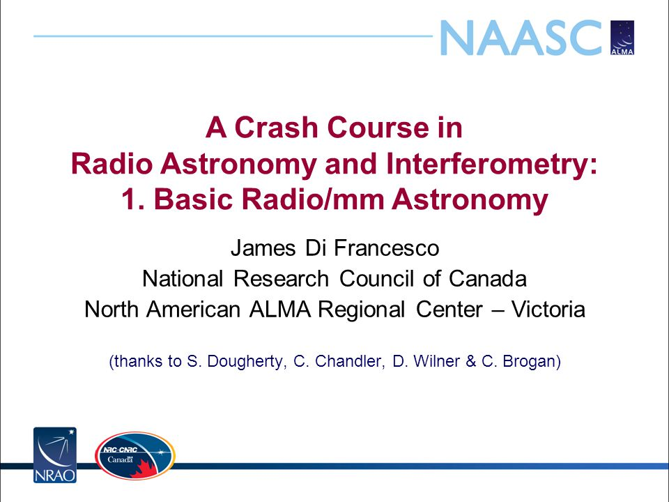 A Crash Course in Radio Astronomy and Interferometry: 1.