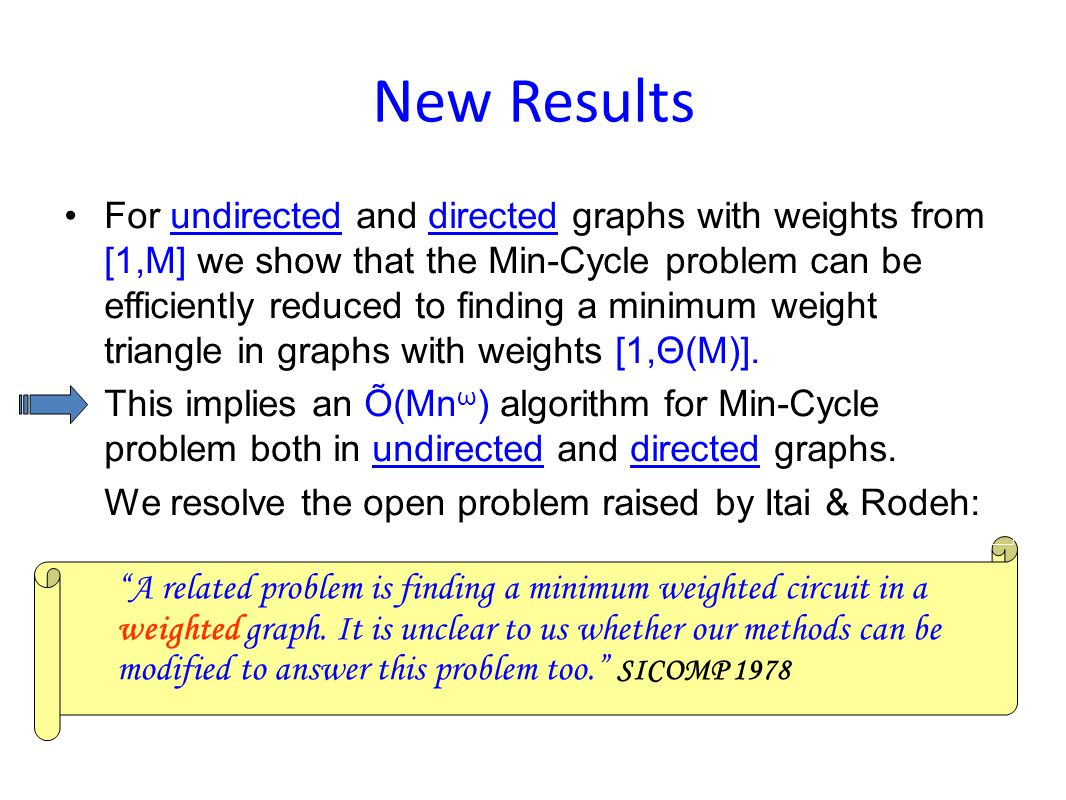 A related problem is finding a minimum weighted circuit in a weighted graph.