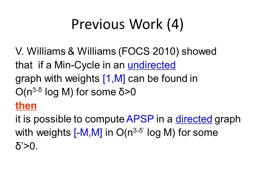Previous Work (4) V.