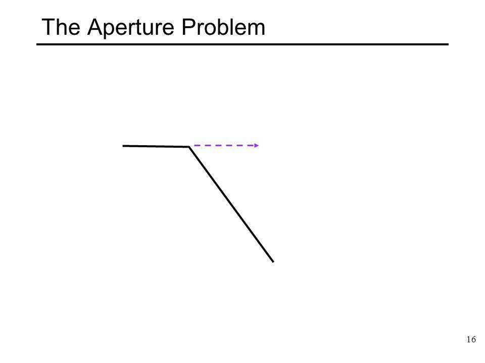 16 The Aperture Problem