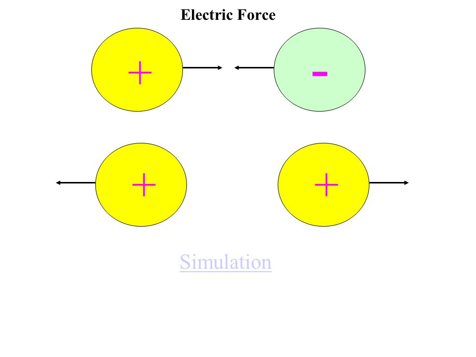 Electric Force - + ++ Simulation