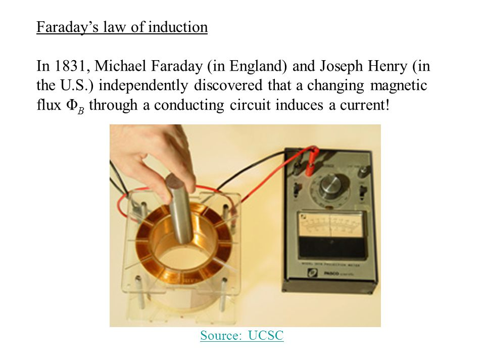 Faraday's law of induction Answer: The flux Φ B is BLx, so dΦ B /dt = BLv.