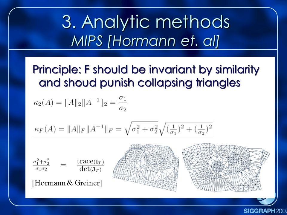 3. Analytic methods MIPS [Hormann et.