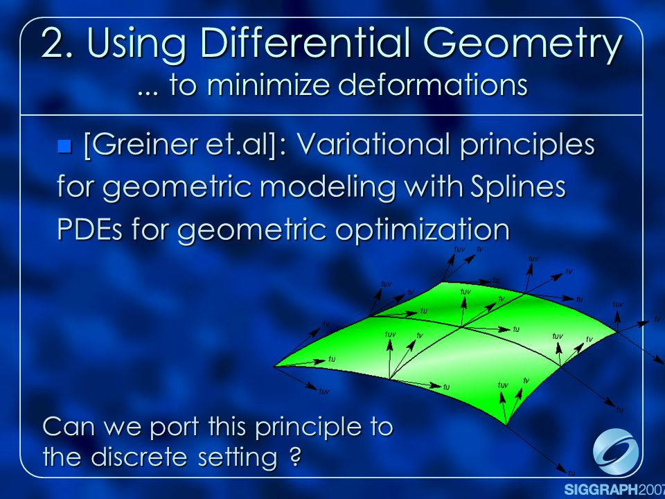 2.Using Differential Geometry...