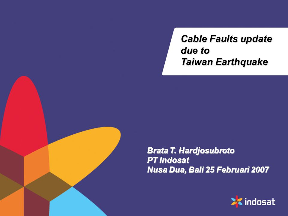 Cable Faults update due to Taiwan Earthquake Brata T.