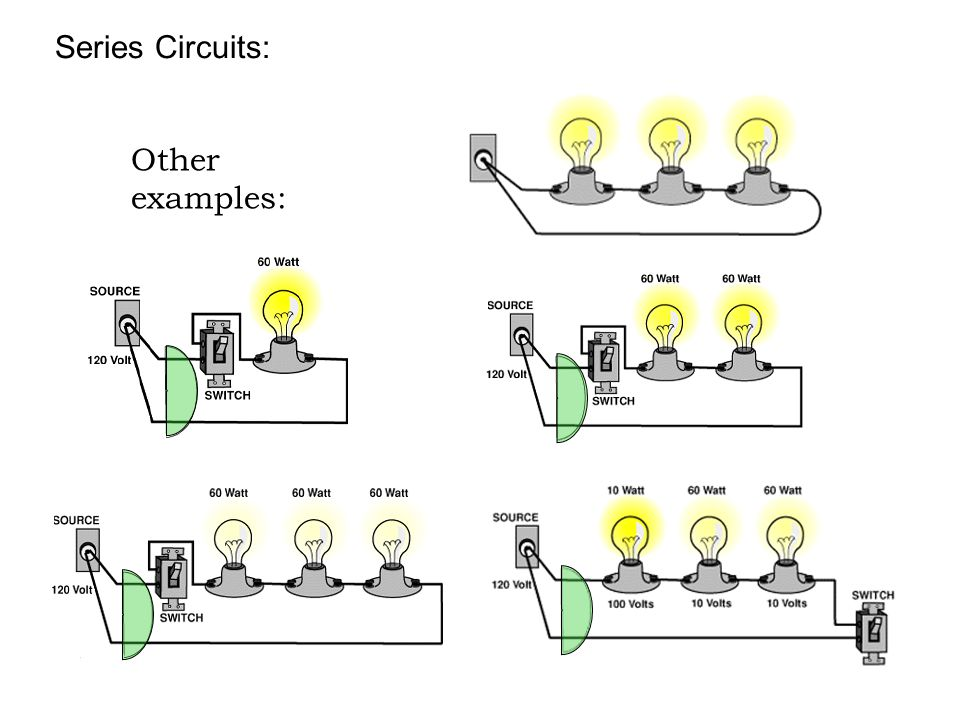 Series Circuits: Other examples: