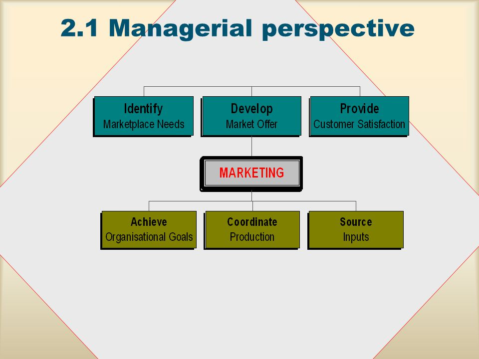 2.1Managerial perspective