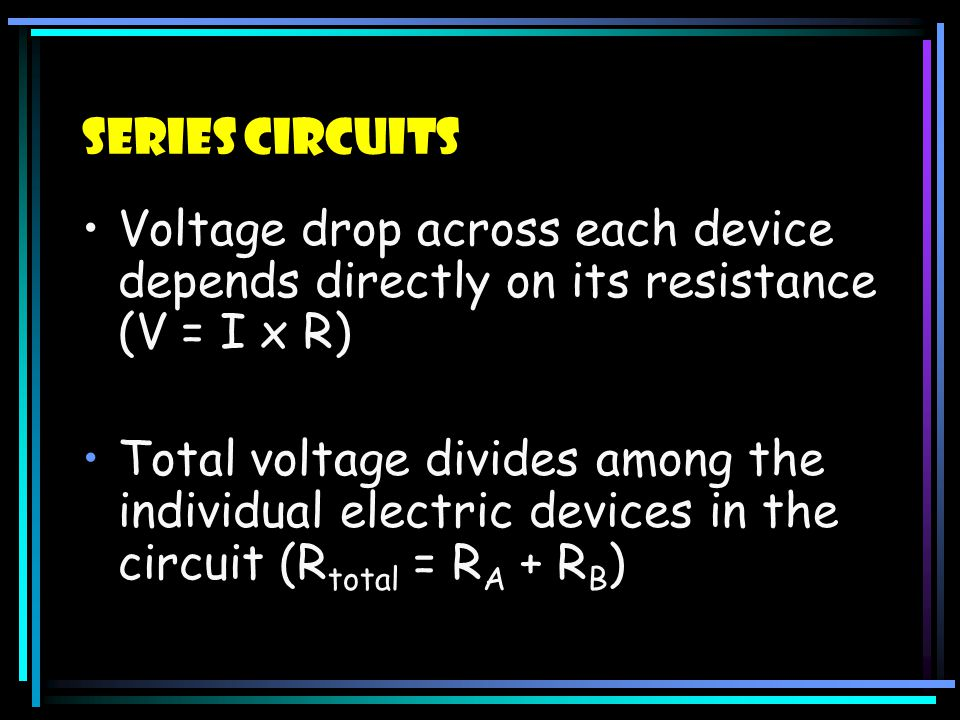 Series Circuits Single path for electrons to flow If any resistor (bulb) in the circuit is removed or burnt out, then NO BULBS will light – the circui