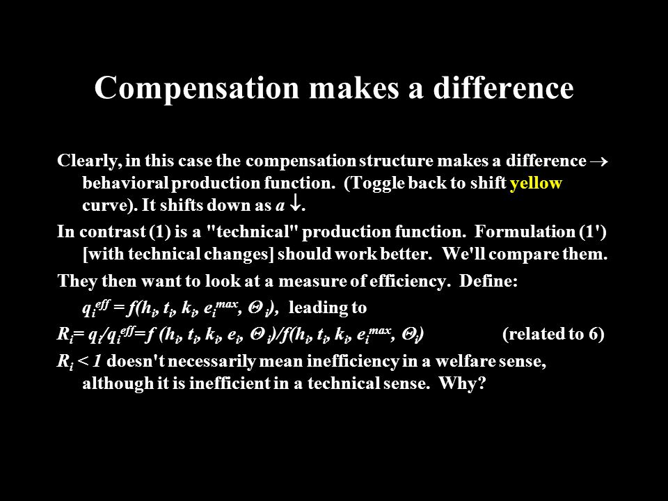 Compensation Structure Compensation structure determines y i for each partner as (3): y i = a (P - C)q i + (1/n)(1 - a)(P - C)  q i.