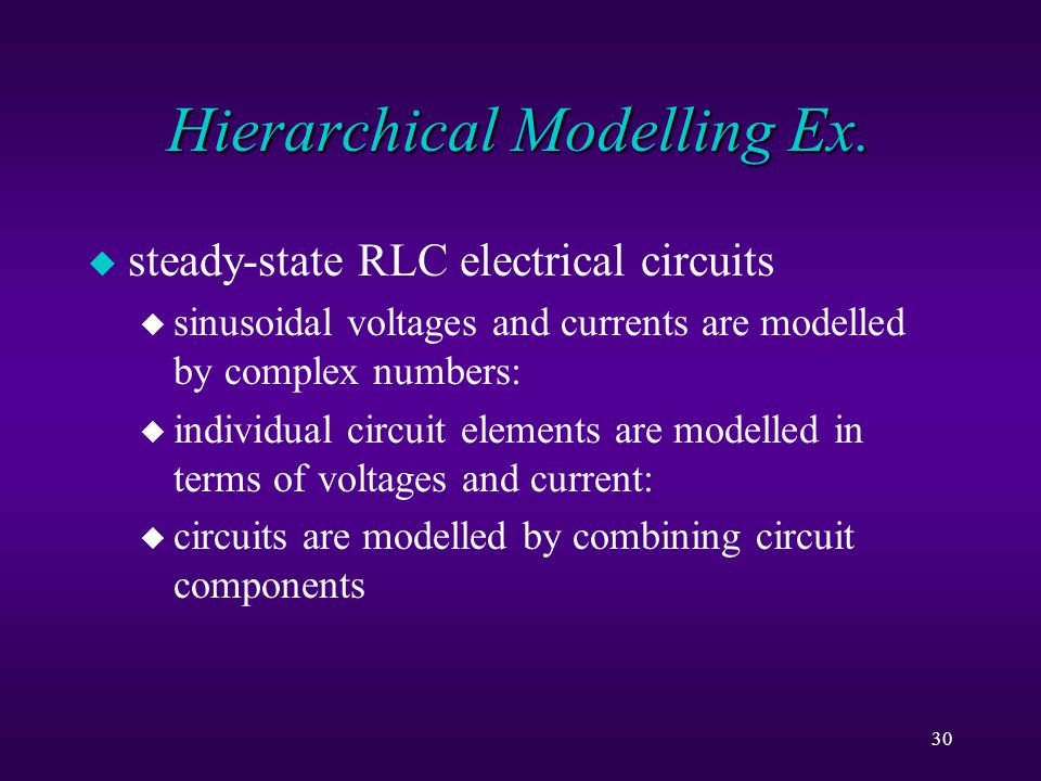 30 Hierarchical Modelling Ex.
