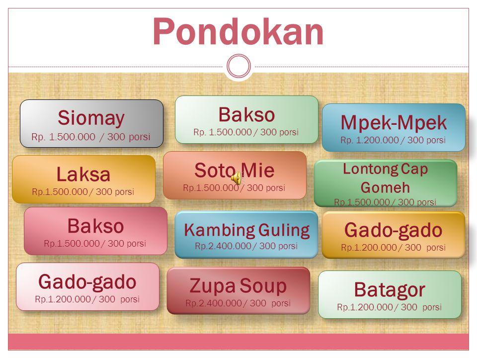 Catering Rp. 35.000/Porsi 2 Lauk Ayam/Ikan/ Sapi/Kambing /Udang/Cumi Pondokan