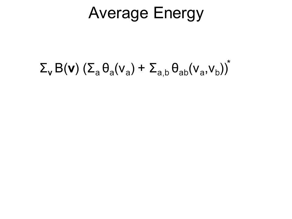 Average Energy Σ v B(v) (Σ a θ a (v a ) + Σ a,b θ ab (v a,v b )) *