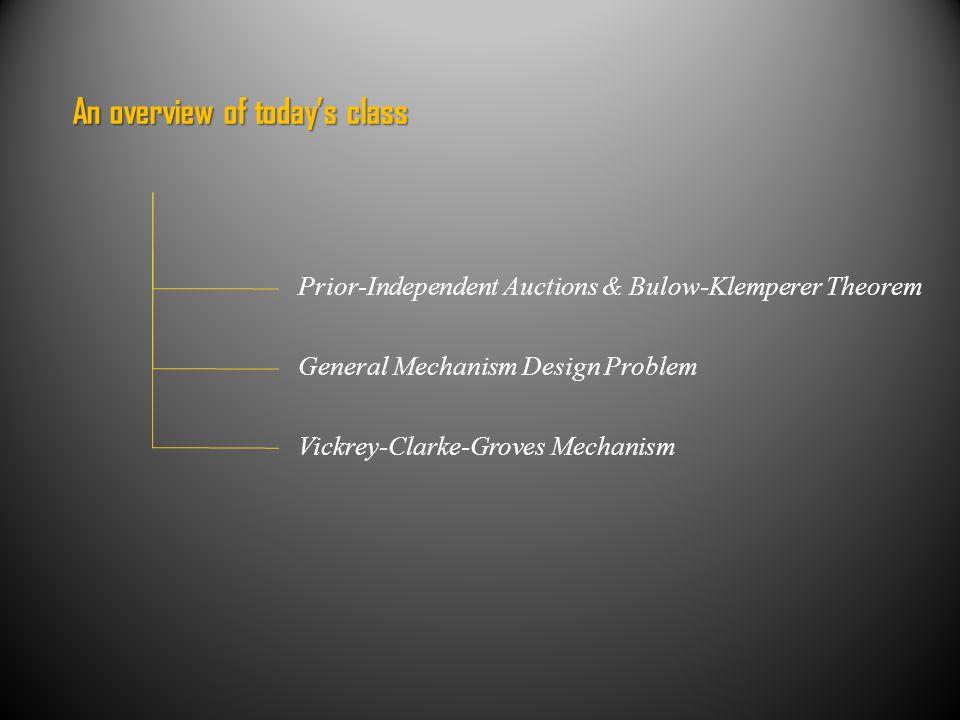 Revenue = Virtual Welfare [Myerson '81 ] For any single-dimensional environment.
