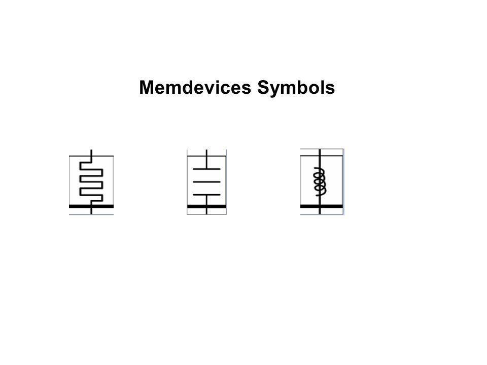 Memdevices Symbols