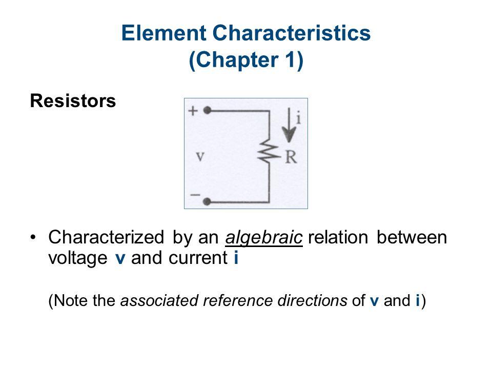 Circuit Diagram 3-Terminal Remark: Terminal equations are sufficient.