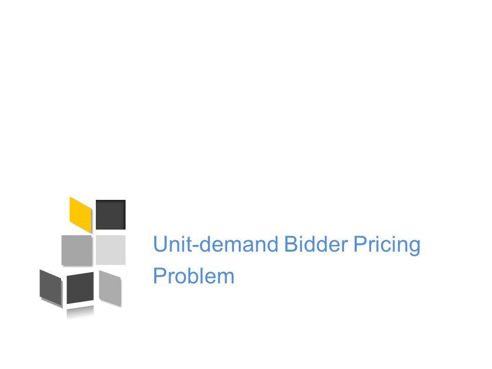 Unit-demand Bidder Pricing Problem