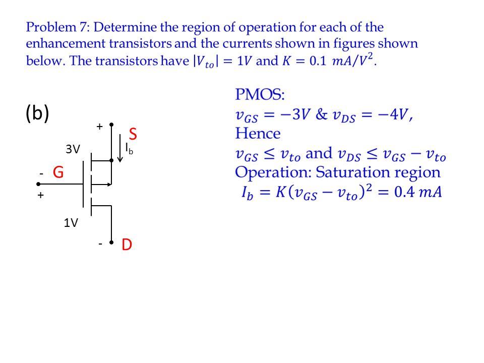IbIb 1V - + 3V - + (b) D S G