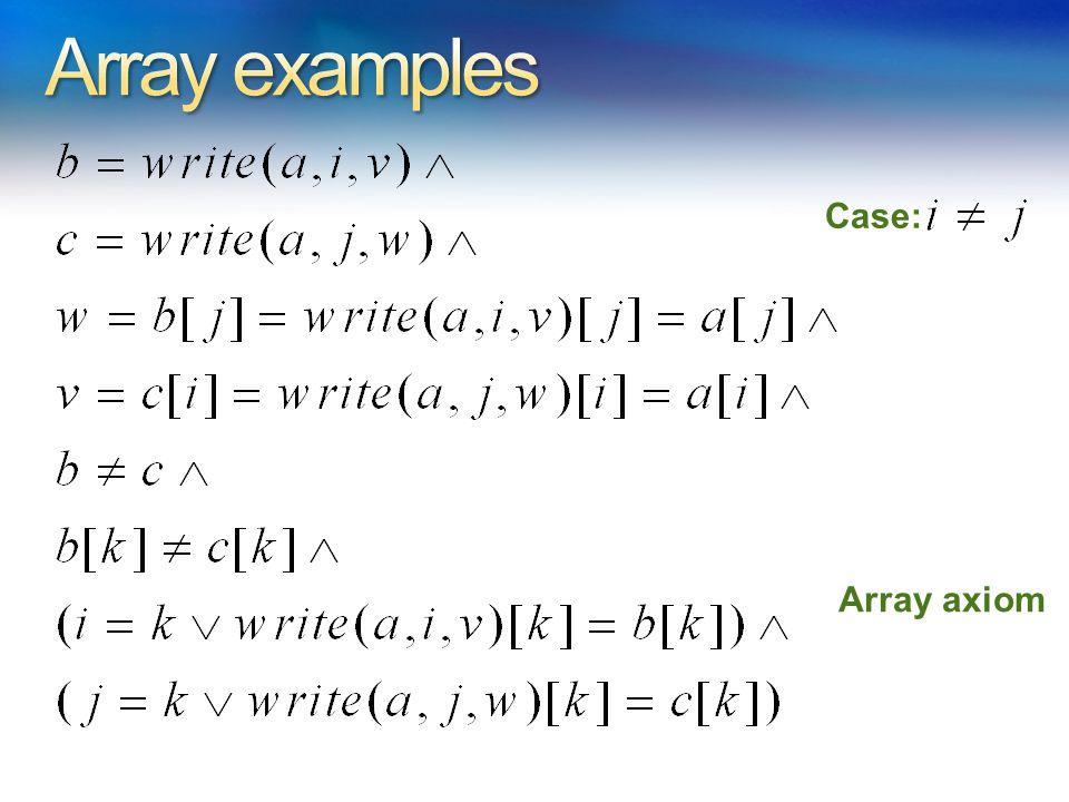 Case: Array axiom