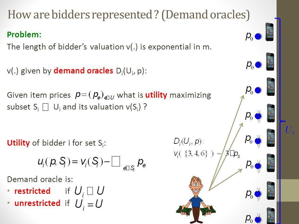 How are bidders represented .
