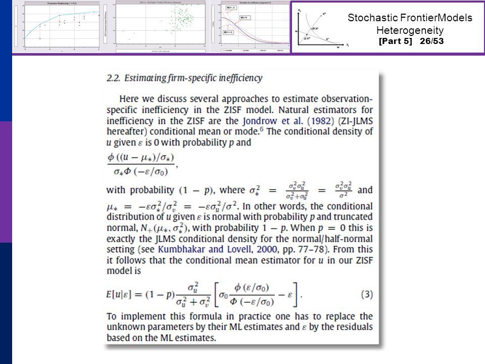 [Part 5] 26/53 Stochastic FrontierModels Heterogeneity