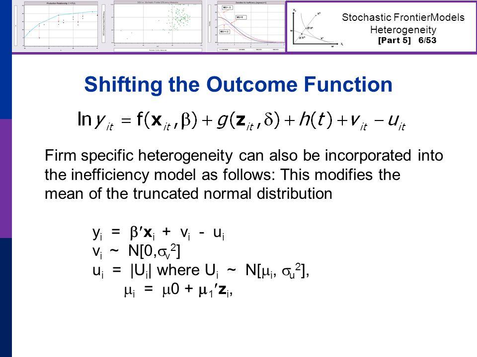 [Part 5] 7/53 Stochastic FrontierModels Heterogeneity Heterogeneous Mean in Airline Cost Model