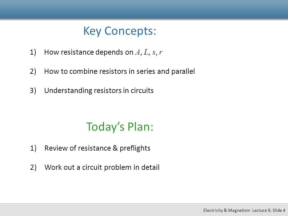 I A V L s V  EL I  JA Observables: R R  L AA Ohm's Law: J   E Conductivity – high for good conductors.