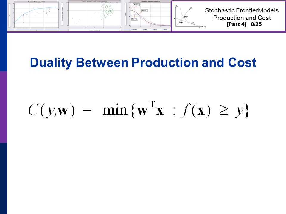 [Part 4] 8/25 Stochastic FrontierModels Production and Cost Duality Between Production and Cost