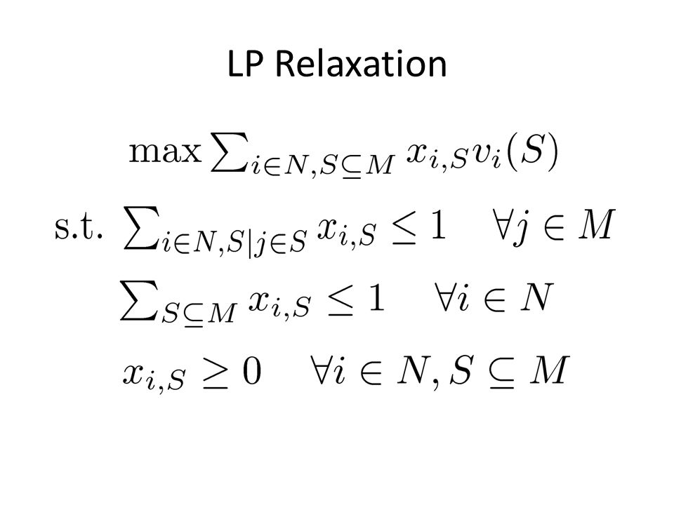 LP Relaxation